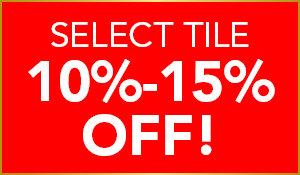 Select Tile 10% - 15% OFF during the National Gold Tag Flooring Sale at Abbey Carpet & Floor in Puyallup.