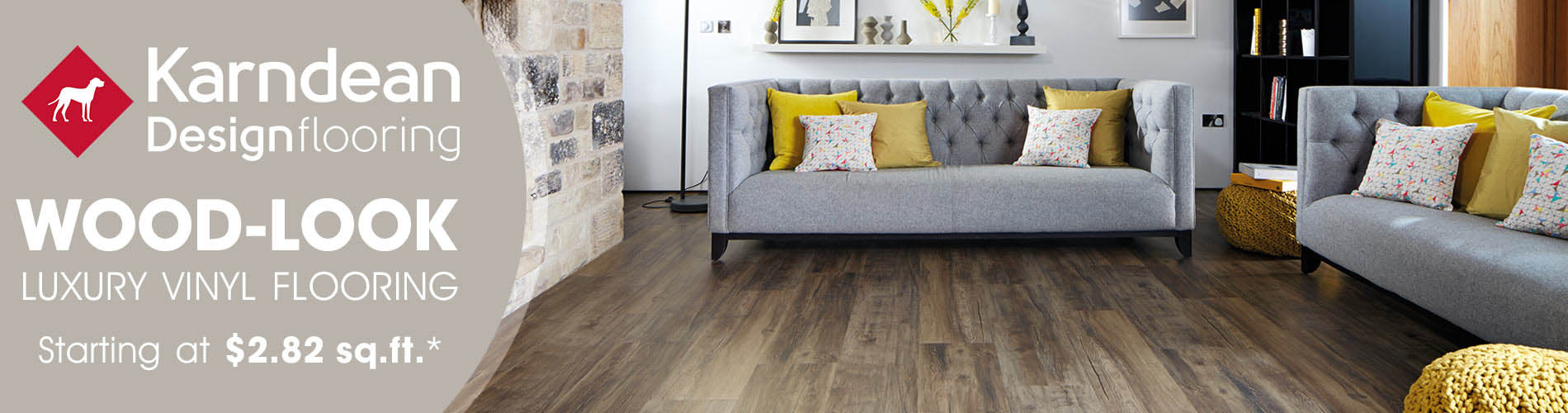 wood-look luxury vinyl starting at $2.82 sq.ft.